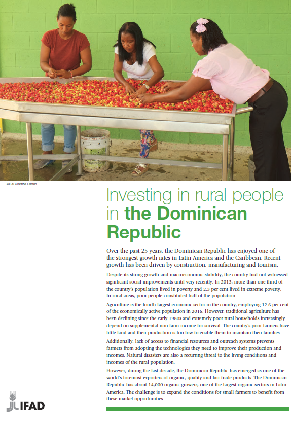 Investing in rural people in the Dominican Republic